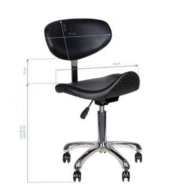 Meistro kėdutė1637, juodos sp. 5