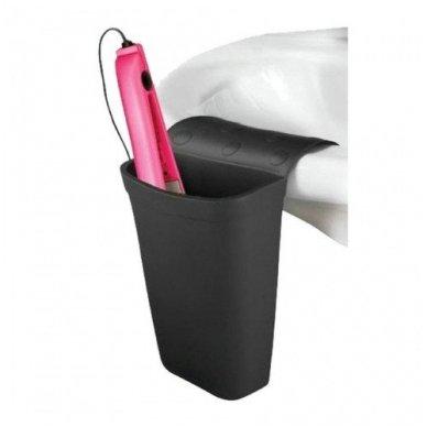 Minkštas silikoninis krepšelis A-261 kirpėjo įrankiams, juodos sp.