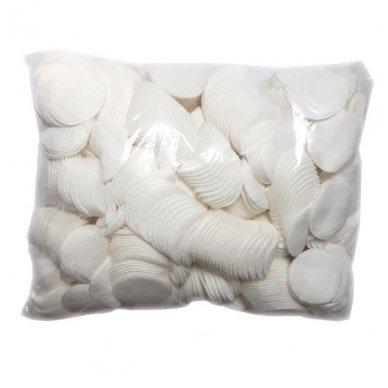 Minkštos medvilninės servetėlės, apvalios 500g, 1200 vnt.
