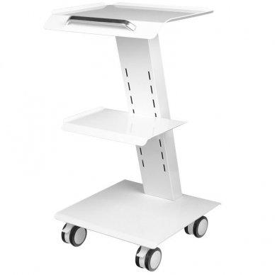 Mobilus staliukas - vežimėlis kosmetologijos prietaisams, baltos sp.