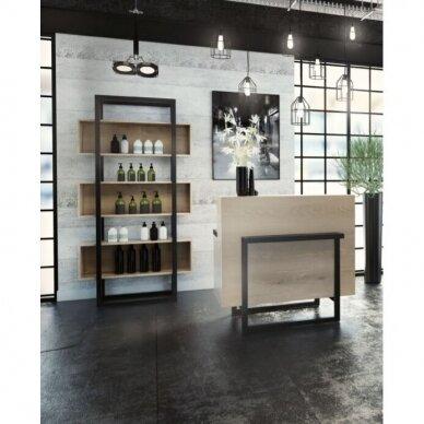 Moderni kirpyklos/salono registratūra WOOD 3