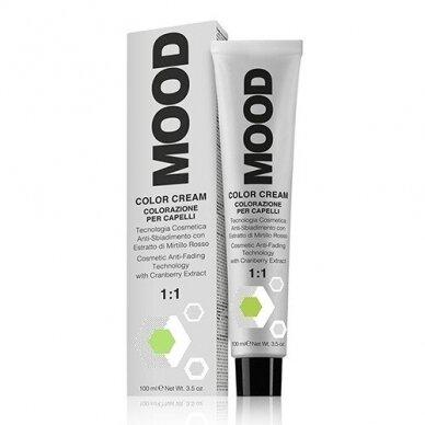 MOOD COLOR CREAM CREAM 8.01 LIGHT NATURAL ASH BLONDE plaukų dažai, 100ml 2