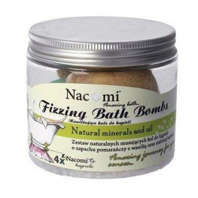 Nacomi Fizzing Bath Bombs vonios burbulų rinkinys, 4vnt. 330g