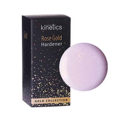 Nagų kietiklis KINETICS Rose Gold Hardener, 15 ml