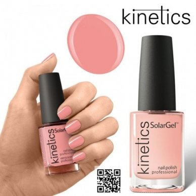 Nagų lakas Kinetics Solar Gel Polish #455 PEACH ROCK, 15ml 2