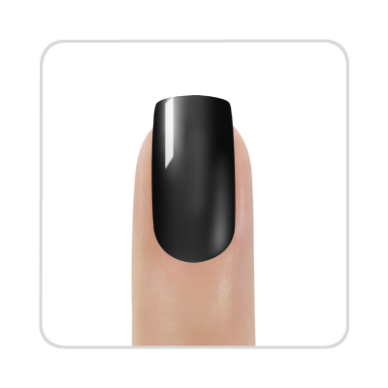Nagų lakas KINETICS SolarGel Polish Jet Black #188, 15 ml 2