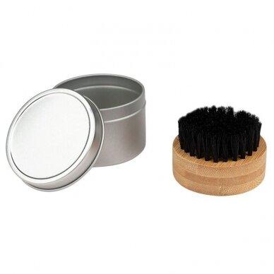 Natūralaus plauko šepetys barzdai dėžutėje KARTACZ H-69 2