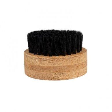 Natūralaus plauko šepetys barzdai dėžutėje KARTACZ H-69
