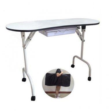Nešiojamas manikiūro stalas BIURKO 4031, baltos sp.
