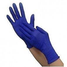 Nitrilo pirštinės NITRYLEX BASIC, tamsiai mėlynos sp, M, 100vnt