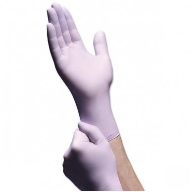 Nitrilo pirštinės be pudros , violetinės sp, L 100 vnt. , ilgesnės ir storesnės