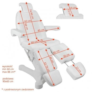 Pedikiūro elektrinis krėslas-lova 7