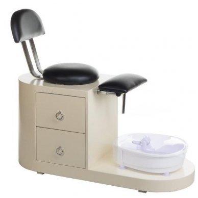 Pedikiūro kėdė su spintelė ir masažo vonele pėdoms SPA BCH-102B