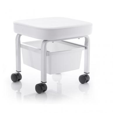 Pedikiūro kėdutė, balta