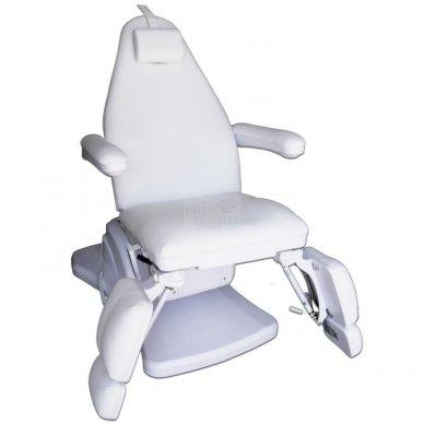 Elektrinis pedikiūro krėslas, 3 varikliai, baltos sp. 2