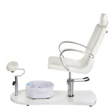 Pedikiūro krėslas su masažine vonele BR-2308, baltos sp. 3
