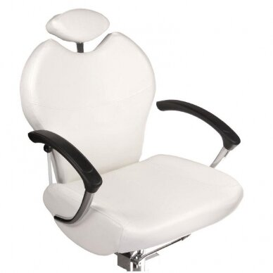Pedikiūro krėslas su pakoju ir imontuota vonele BR-2301, baltos sp. 3