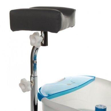 Pedikiūro krėslas su pakoju ir imontuota vonele BR-2301, pilkos sp. 7