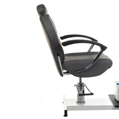 Pedikiūro krėslas su pakoju ir imontuota vonele BR-2301, pilkos sp. 3