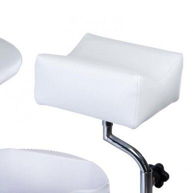 Pedikiūro krėslas su pakoju ir imontuota vonele BW-100, baltos sp. 3