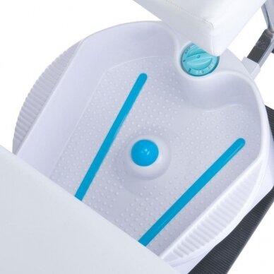 Pedikiūro krėslas su pakoju ir imontuota vonele BW-100, baltos sp. 4