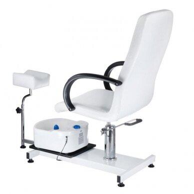 Pedikiūro krėslas su pakoju ir imontuota vonele BW-100, baltos sp. 2