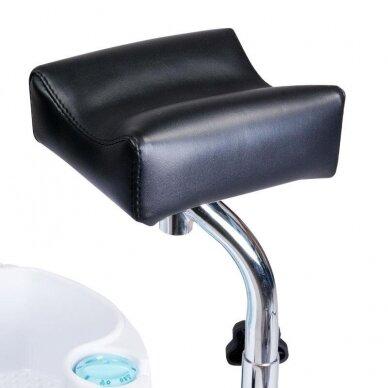 Pedikiūro krėslas su pakoju ir imontuota vonele BW-100, juodos sp. 3