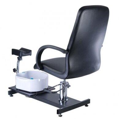 Pedikiūro krėslas su pakoju ir imontuota vonele BW-100, juodos sp. 6