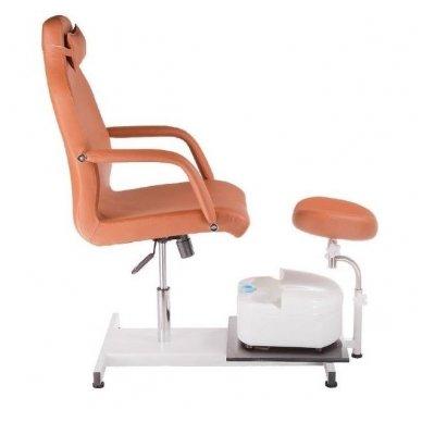 Pedikiūro krėslas su masažine vonele BD-5711, rudos sp. 4