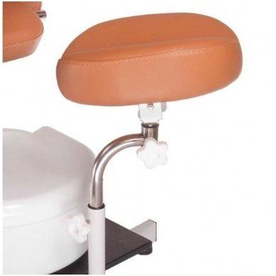 Pedikiūro krėslas su masažine vonele BD-5711, rudos sp. 5
