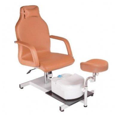 Pedikiūro krėslas su masažine vonele BD-5711, rudos sp.