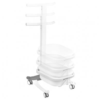 Pedikiūro vonelės vežimėlis su dubeniu COMFORT 3