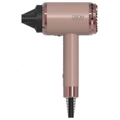 Plaukų džiovintuvas 1800W, rožinis OSOM 6800RGHD, 1800W