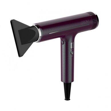 Plaukų džiovintuvas Osom Professional Hair Dryer, bordo sp., ilgaamžis BLDC variklis, 1800W 3