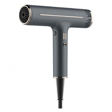Plaukų džiovintuvas Osom Professional Hair Dryer, pilkos sp. ilgaamžis BLDC variklis, 1800W