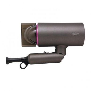 Plaukų džiovintuvas, pilkas 1400W OSOM 7004GRHD 4