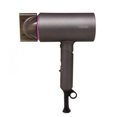 Plaukų džiovintuvas, pilkas 1400W OSOM 7004GRHD