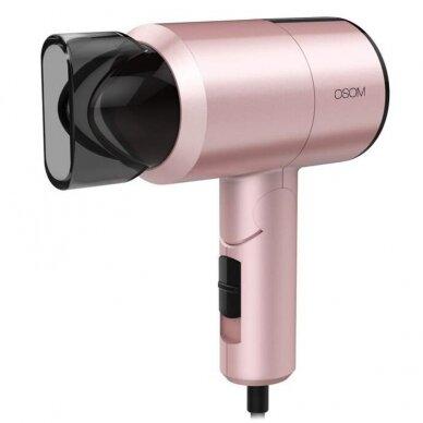 Plaukų džiovintuvas, rožinis 1100W OSOM 7017PIHD