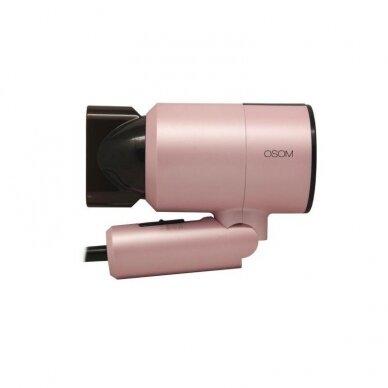 Plaukų džiovintuvas, rožinis 1100W OSOM 7017PIHD 2