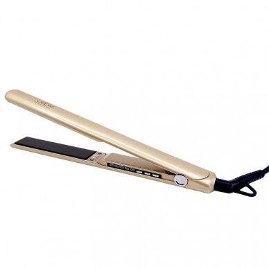 Plaukų tiesintuvas auksinis su titano plokštelėmis OSOM525GOLD, 150-230C
