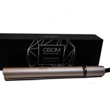 Plaukų tiesintuvas su šilko plokštele Gold OSOM166,120-230C 2