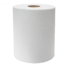 Popieriniai rankšluoščiai rulone, 2 sluoksnių, 160m, baltos sp.