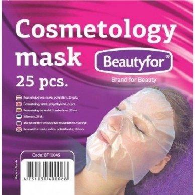 Polietileninės kaukės kosmetinėms procedūroms, 25 vnt. Beautyfor