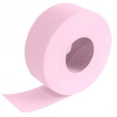 Popierius depiliacijai ritinyje, 100m su perforacija, rausvos sp.