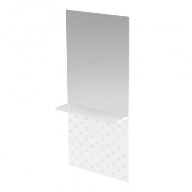 Prabangus kirpyklos veidrodis su lentyna SWAN su kristalais