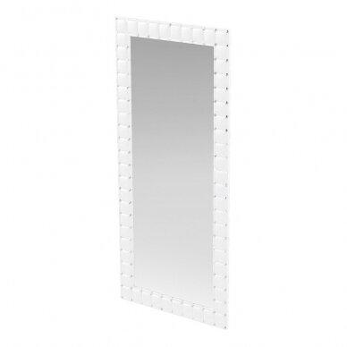 Prabangus kirpyklos veidrodis SWAN su kristalais, baltos sp.