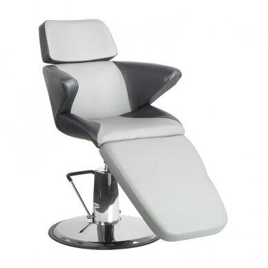 Profesionali kosmetologinė kėdė A330, juodos/pilkos sp.