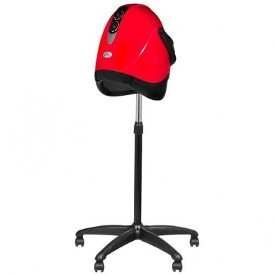 Profesionalus plaukų džiovintuvas su gaubtu ant stovo HOOD LX-201S, raudonos sp. 4