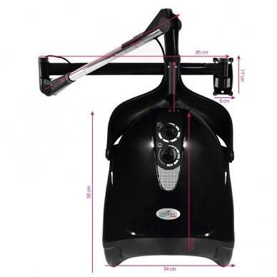 Profesionalus plaukų džiovintuvas, tvirtinamas HOOD DX-201W, juodos sp. 2