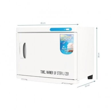 Rankšluosčių šildytuvas su sterilizatoriumi, UV-C 23L WHITE 3